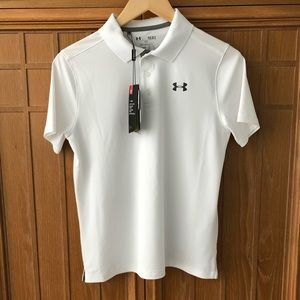 NEW! Under Armour Golf Polo Sz Small / YLG